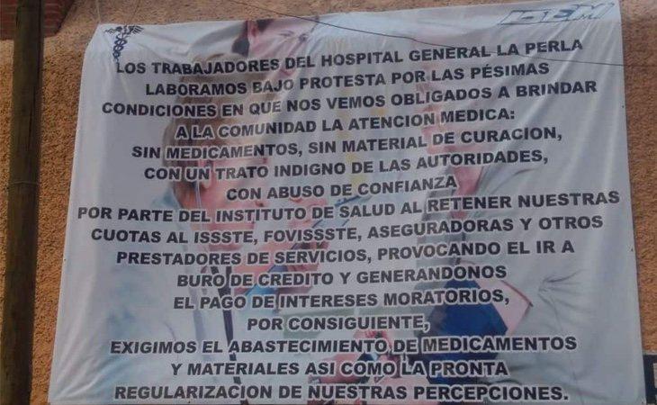 Los profesionales sanitarios del Hospital de la Perla hicieron saber a todo el mundo las condiciones en las que trabajan. /Foto: Juan Lázaro