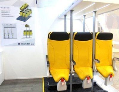 Una aerolínea crea asientos de avión con los que viajarás casi de pie
