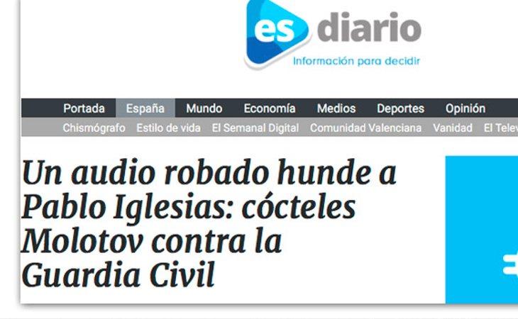 El bulo publicado por Esdiario