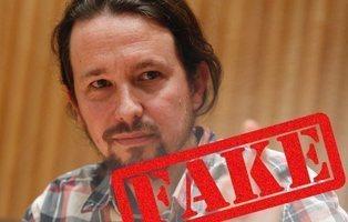 El bulo que la derecha mediática y el PP han difundido de Pablo Iglesias