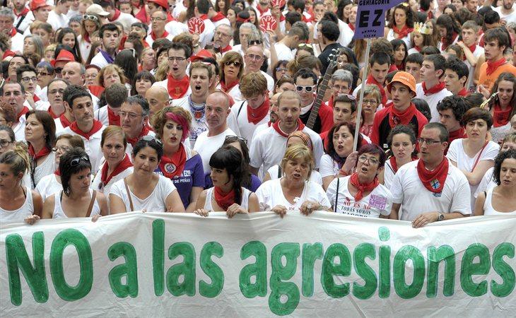 Manifestación en contra de las agresiones sexuales