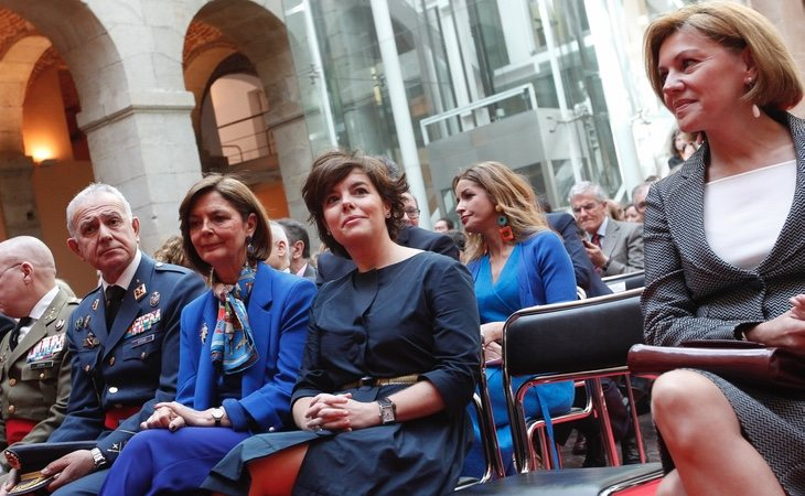 Cospedal y Soraya fueron el centro de gran parte de las miradas