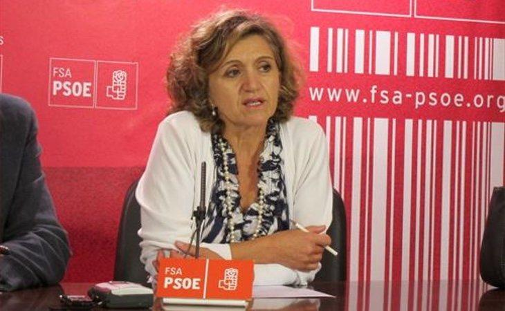María Luisa Carcedo, responsable de sanidad del PSOE, ha sido la encargada de presentar la iniciativa