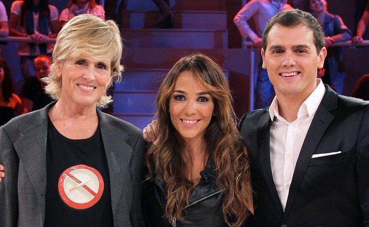 Mercedes Milá junto a Albert Rivera en 'El comecocos'