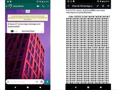 El nuevo círculo negro de WhatsApp que puede 'bloquear' tu móvil