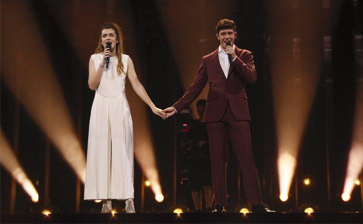Amaia y Alfred durante el primer ensayo (Andres Putting -EBU)