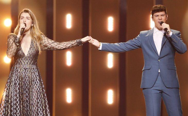 Amaia y Alfred durante el segundo ensayo (Andres Putting -EBU)
