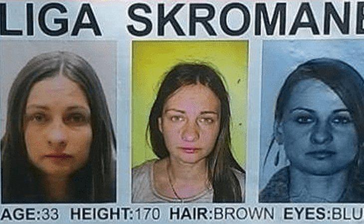 Carteles de búsqueda de la joven desaparecida
