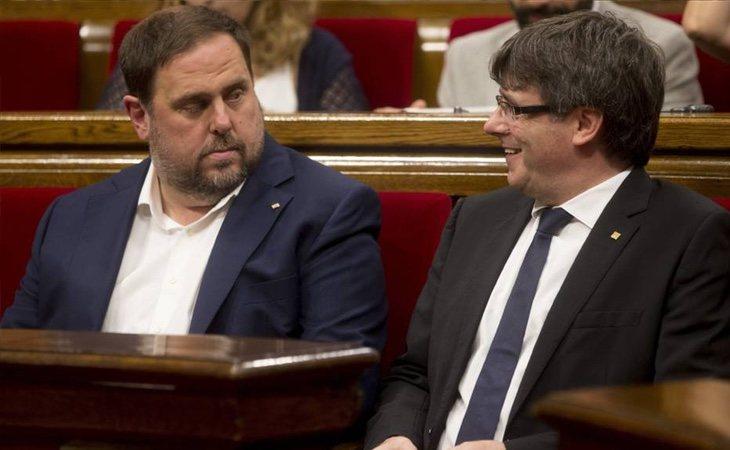 Las relaciones entre Puigdemont y Junqueras son especialmente tensas