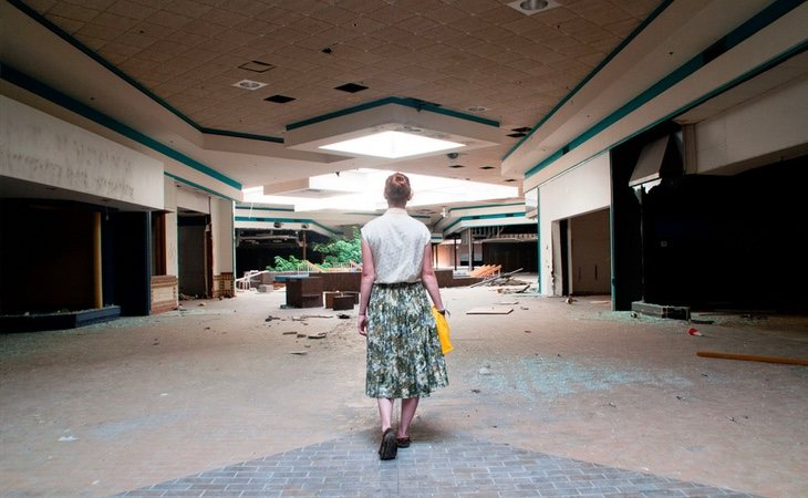 Imagen del centro al comienzo de su abandono