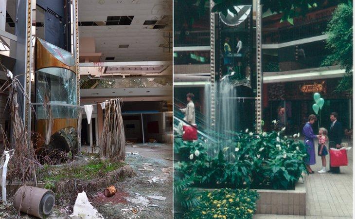 El ascensor principal ha quedado destruido y las palmeras no han soportado las inclemencias metereológicas