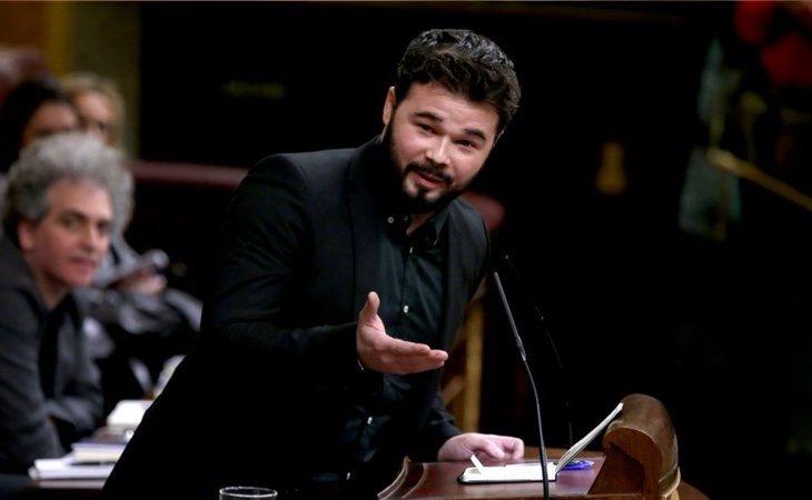 Rufián ha comparado la sentencia de La Manada con la situación de los presos catalanes