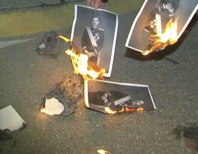La Audiencia Nacional considera libertad de expresión la quema de fotos del rey en Girona