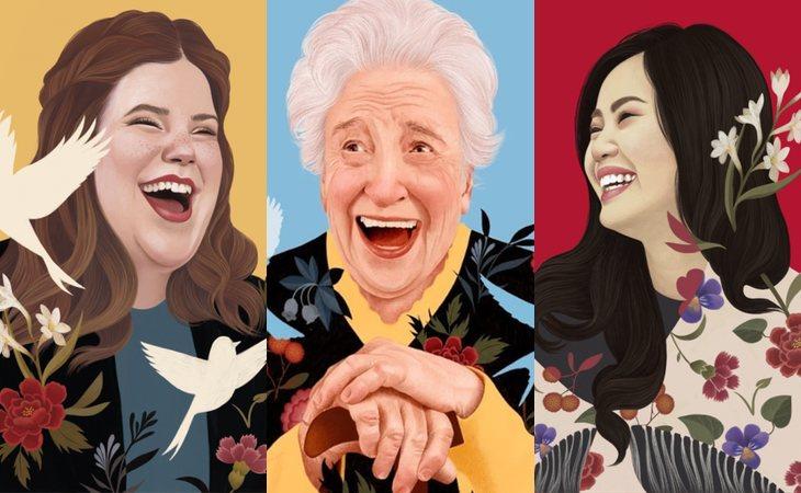 Sus creaciones están inspiradas en los gestos de varias mujeres diferentes