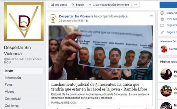 La organización culpa a la víctima de 'La Manada'