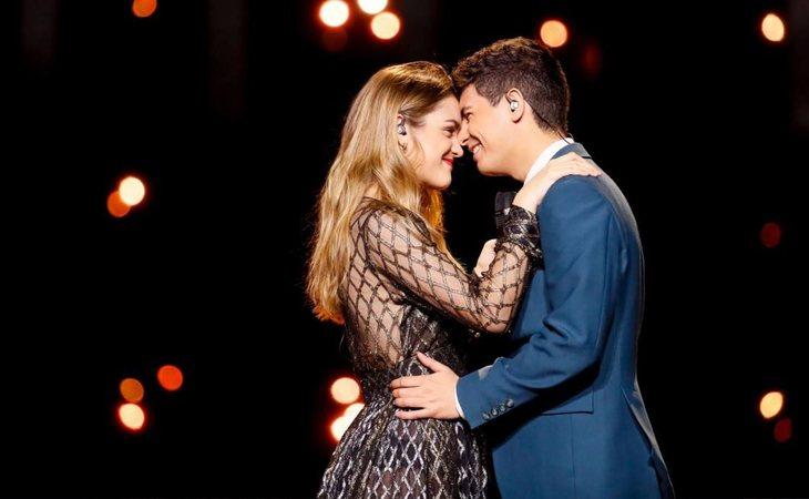 Discreta puesta en escena para Amaia y Alfred en Eurovisión