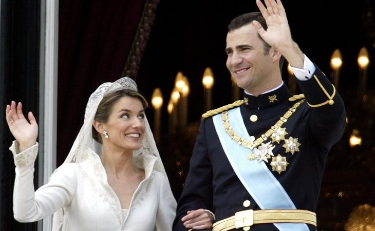 La Reina Letizia y el Rey Felipe el día de su boda