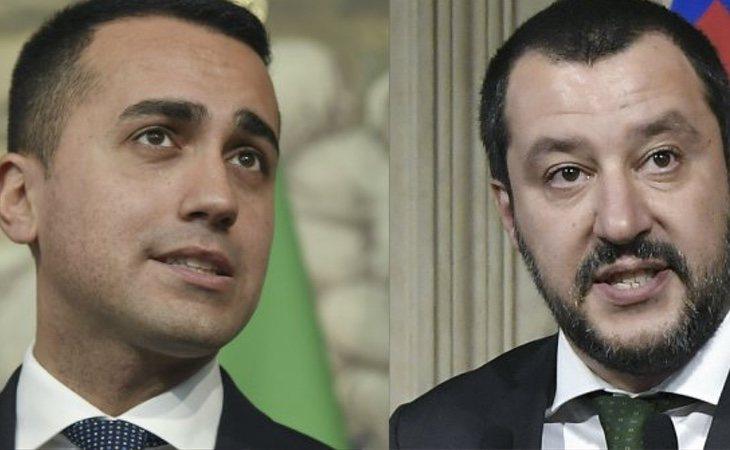 Luigi di Maio (izq) y Matteo Salvini (dcha)