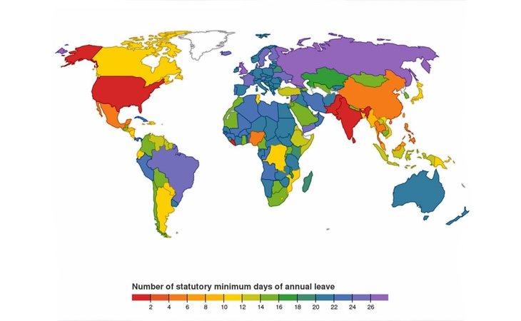 El mapa de las vacaciones que nos ha dejado impresionados