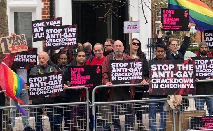 Las protestas por la 'purga gay' en Chechenia se han sucedido en todo el mundo