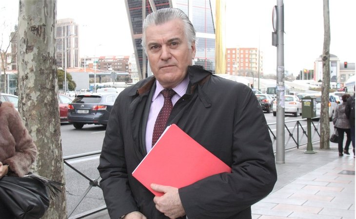 Luis Bárcenas a a su llegada a los juzgados de Plaza de Castilla