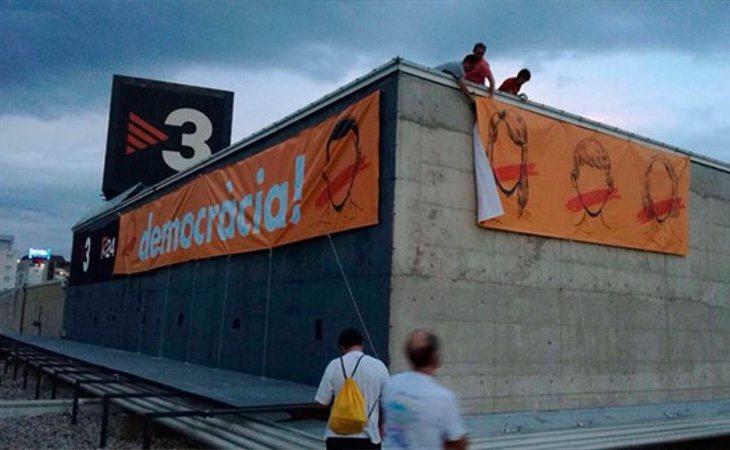 TV3 ha utilizado la bandera del independentismo como centro de su línea editorial