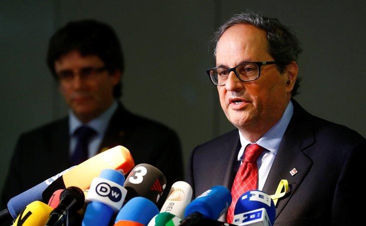 Torra, sucesor de Puigdemont, podría terminar también inhabilitado