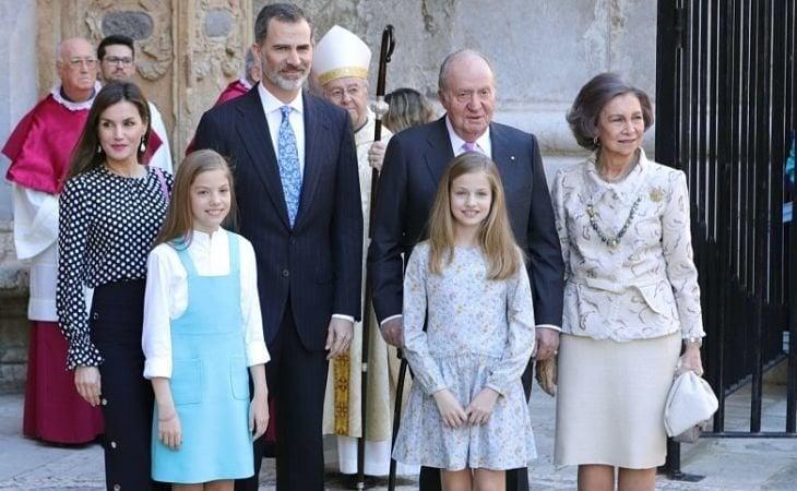 La Familia Real española en uno de sus últimos actos conjuntos