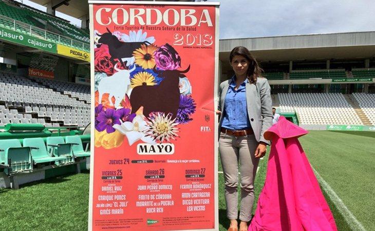 Cartel de la feria taurina de Córdoba con Lea Vicens, torera que cerrará las jornadas
