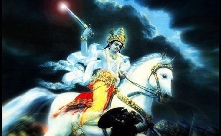 Este es Kalki, la décima reencarnación de Visnu dispuesto a eliminar a la humanidad
