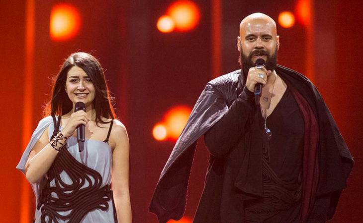 Lukic en la final de Eurovisión