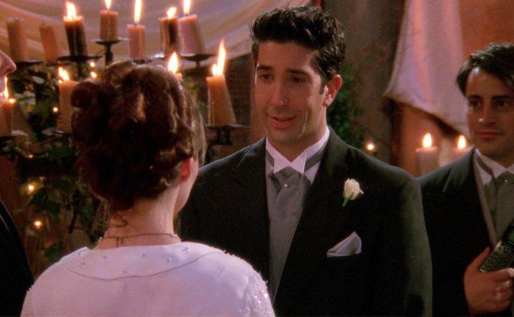 A punto de casarse, Ross llamó a su novia por otro nombre