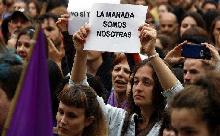 Movilizaciones en apoyo a la víctima de 'La Manada'