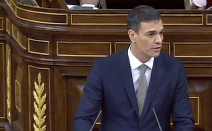 Pedro Sánchez, contundete: 'Esta legislatura nació herida, con un Gobierno que venía herido y un partido que venía herido por la corrupción'