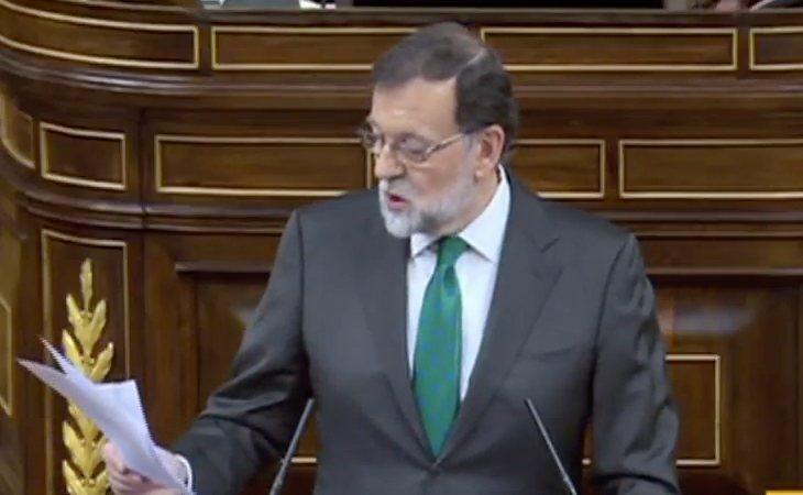 Rajoy ataca a Sánchez: 'Yo creía que usted se había ido de aquí porque lo habían echado de su partido'