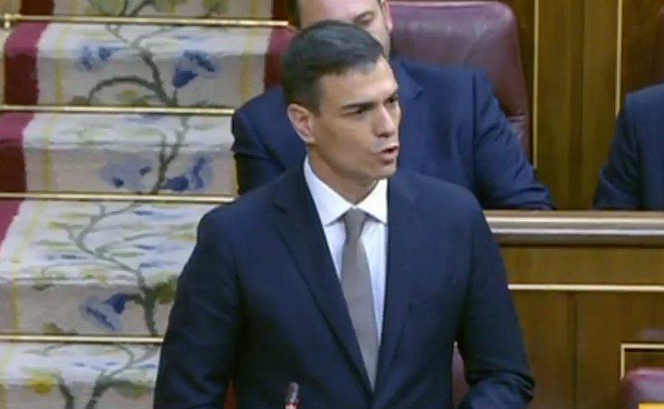 Pedro Sánchez pide a todos los grupos políticos su apoyo para la moción de censura