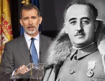 Felipe VI sobre la petición para retirar el ducado de Franco: 'Gracias, un cordial saludo'