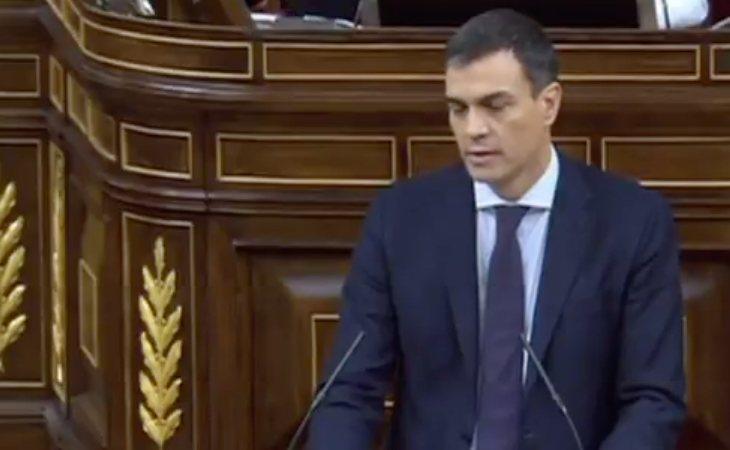 Pedro Sánchez defiende la moción: 'Va a estar respaldada por grupos parlamentarios que representan a 12 millones de ciudadanos'