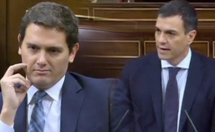Pedro Sánchez acusa a Ciudadanos de cubrir la corrupción del PP