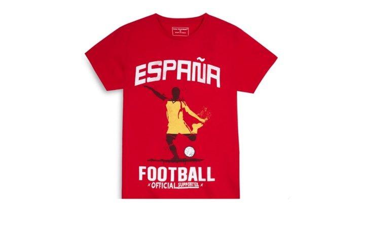 Camiseta de España vendida en Primark
