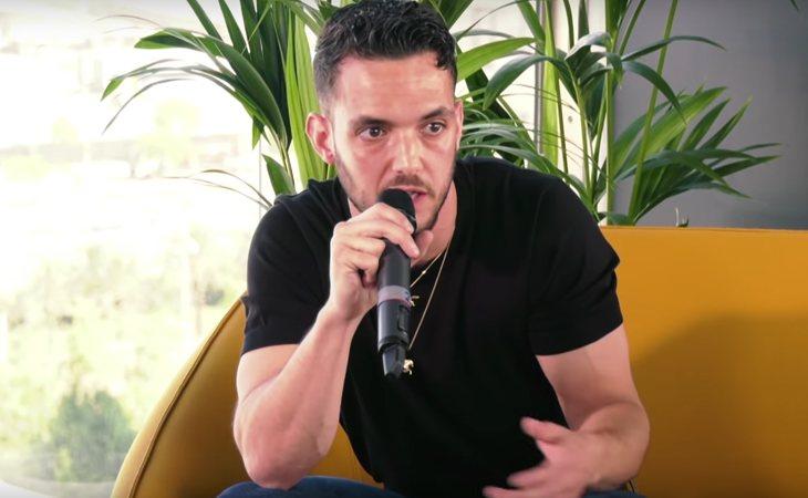 C. Tangana durante la entrevista en el Primavera Sound
