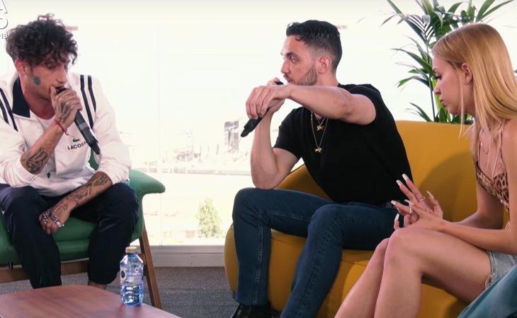 Yung Beef, C. Tangana y Bad Gyal durante su entrevista en el Primavera Sound