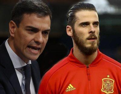 De Gea, el único jugador que no aplaudió a Pedro Sánchez por su postura en el 'caso Torbe'