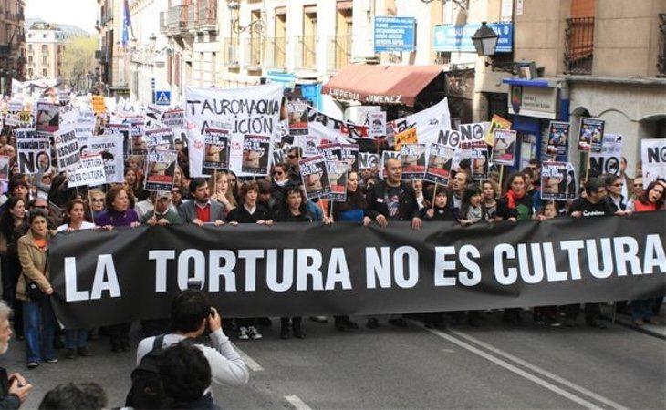Manifestación contra la tauromaquia en Madrid