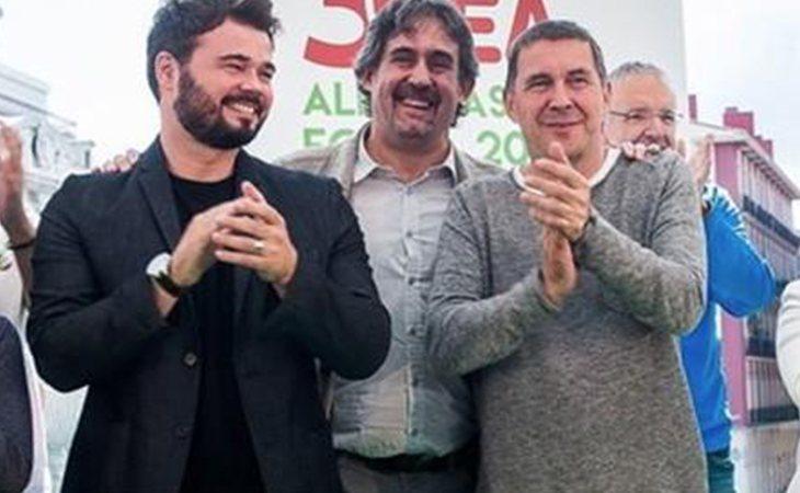 Gabriel Rufián y Otegi participarán en la cadena humana