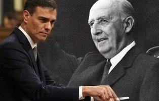 Pedro Sánchez se compromete a ilegalizar la Fundación Francisco Franco