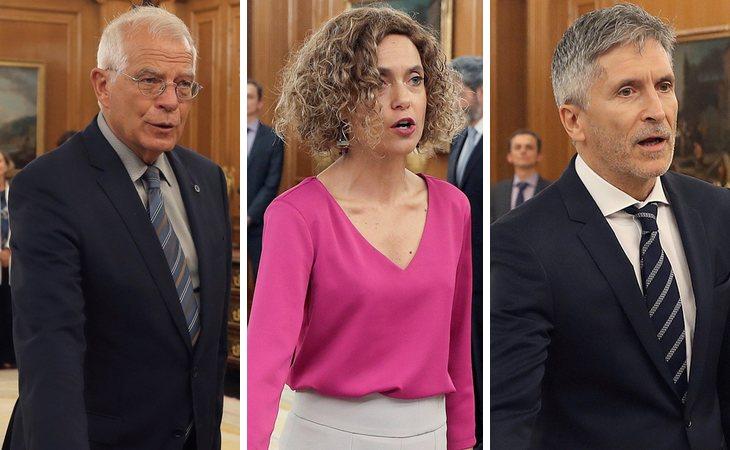 Josep Borrell (Exteriores, UE y Cooperación), Meritxell Batet (Política Territorial) y Fernando Grande-Marlaska (Interior)