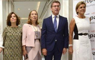 Soraya inició la guerra con Cospedal por ser mano derecha de Feijóo mientras Rajoy dimitía