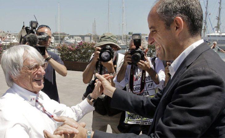 La Fiscalía acusa de malversación y prevaricación a Camps por su negociación con Ecclestone