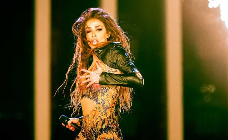 Eleni Foureira en Eurovisión con 'Fuego'